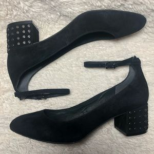 Kenneth Cole New York Thalia Black Studded Heels